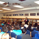 I enjoyed telling to all six classes of 7th grade students. They were great audiences.