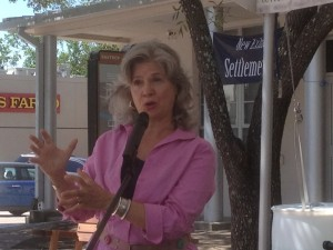 Telling at Yesterfest in Bastrop, Texas