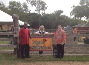 Storyteller poets, Willie Sims and Beth Turner Ayers join me at The Heritage Farmstead Museum.