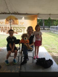 Here we are with new friends Hayden and Emily at The Heritage Farmstead Museum